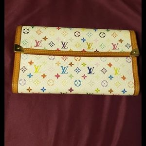 Authentic louis Vuitton Multicolored Monogrammed W